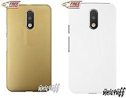 "For Motorola Moto G 4th Gen Plus [COMBO OFFER]: Unistuffâ""¢ Matte Finish Hard Shell Ultra Thin Bumper Back Case Cover for Motorola Moto G 4th Gen / Moto G4 / Moto G Plus, 4th Gen / Moto G4 Plus (Golden, White)"