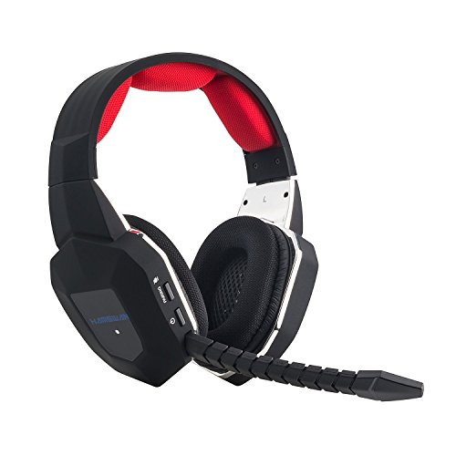 EasySMX [ Dernière 2.4Ghz Micro-Casque Sans Fil pour xbox 360/xbox One/PS4/PS3/PC ] Multi-Fonctionnels Console Casque Stéréo sans fil Gamer Headset Wireless avec Mic Microphone Compatible avec xbox 360/xbox One/PS4/PS3/PC Skype/Chat