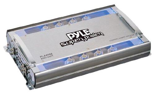 Pyle Pla4988 4 Channel 6000 Watts Bridgeable Mosfet Amplifier