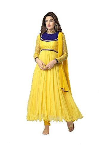 Suitsvilla Yellow Latest Frock Style Anarkali Suits