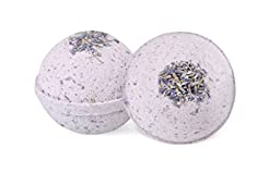 2 x Calm Your Spirit - Ultra Lush Lavender And Chamomile All Natural Handmade Bath Bomb