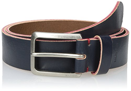 Tommy-Hilfiger-Mens-Pop-Casual-Belt-with-Red-Accent