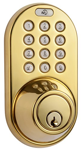 MiLocks DF-02P Keyless Entry Deadbolt Door Lock with Electronic Digital Keypad Entry, Polished Brass