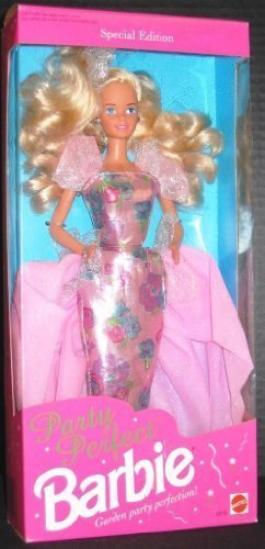 PARTY PERFECT BARBIE DOLL, 1992 EDITION, MATTEL #1876, SPECIAL EDITION, FROM NO SMOKING HOME - 1