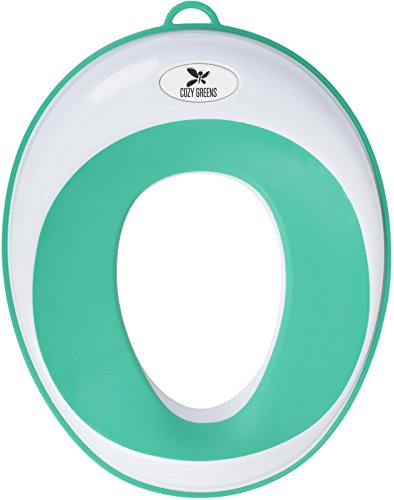 Cozy Greens® Potty Seat | Kids Toilet Training Ring for Boys or Girls | Secure Non-Slip Surface | + FREE GIFTS Suction Cup, Storage Hook, Potty Training eBook | Lifetime 100% Satisfaction Guarantee