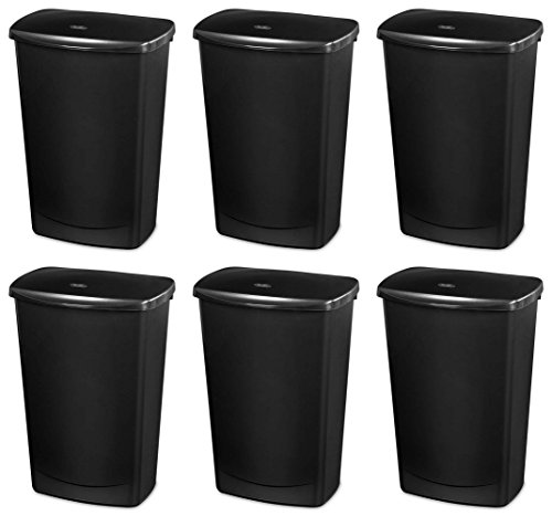 Sterilite 11.4 Gallon Covered Wastebasket (6 pack) | 10919006 (13 Gallon Wastebasket Liners compare prices)