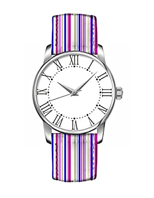 Bunte Mädchen Armband Uhr Helle bunte Streifen