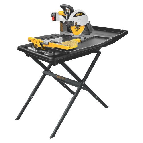 DEWALT D24000S HeavyDuty 10inch Wet Tile Saw with Stand