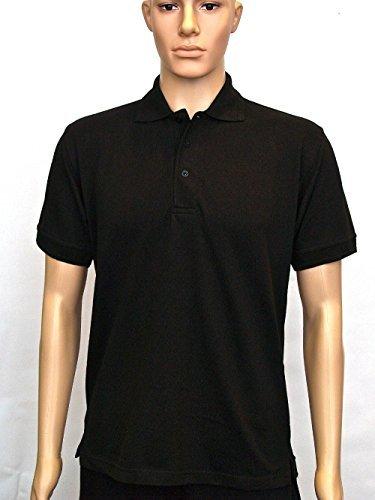 Donna Leisure Casual Tee Manica Corta Polo Sport Lavoro Workwear Black X-Small