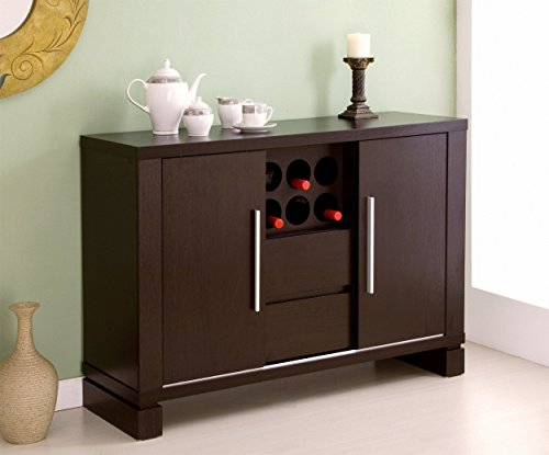 iohomes studio buffet with wine holder cappuccino 715007581055. Black Bedroom Furniture Sets. Home Design Ideas