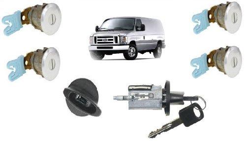 Ford Econoline Van (E150~E250~E350) Keyed Door Locks & Keyed Ignition Switch Cylinder Lock Set For Cargo & Club Wagon Passenger Van 1997-2012