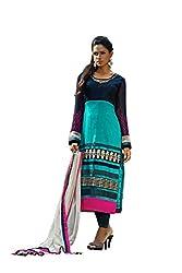Kamakshi Womens Cotton Self Print Straight Salwar Suit (Moksha_Xl)