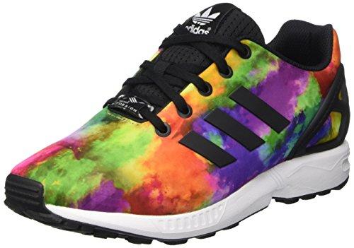 Adidas Zx Flux K Scarpe Low-Top, Bambini e ragazzi, Multicolore (Cblack/Cblack/Ftwwht), 37 1/3