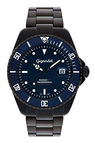 Gigandet G2-013 - Reloj para hombres, correa de acero inoxidable color negro