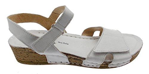 sandalo donna bianco aperto zeppa soft art 10210 41 bianco