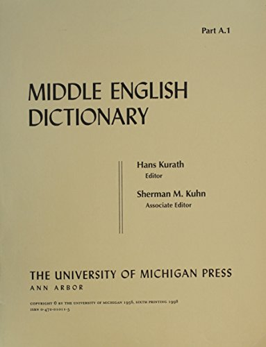 Middle English Dictionary: A.1