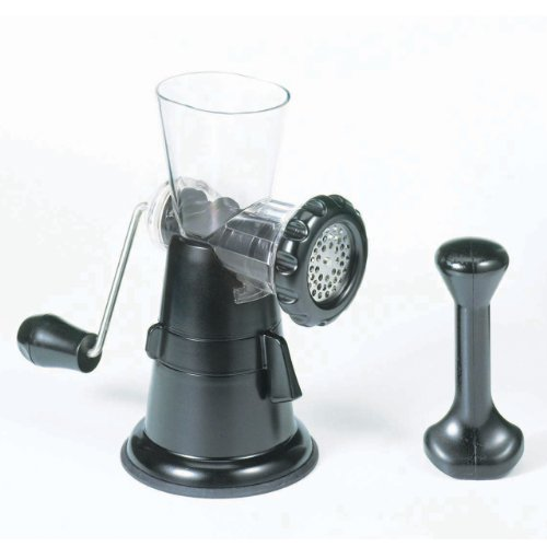 Starfrit 093347 Manual Meat Grinder, Black