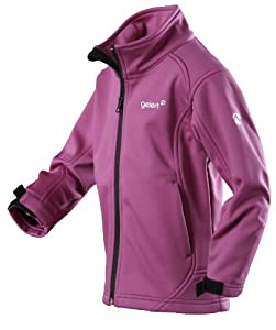 Gelert Girls Axiom Softshell Jacket - Cassis/Pure Black, Size 11/12 - 152