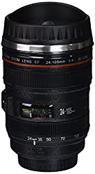 Camera Lens Thermos Stainless Steel Cup/ Mug for Coffee or Tea (Black)