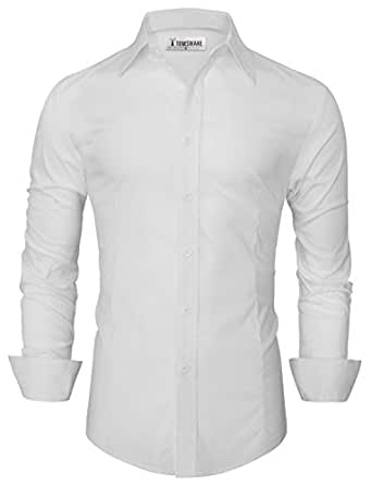 Tom's Ware Chemise Habillee -Homme TWFD001-1 -WHITE-S
