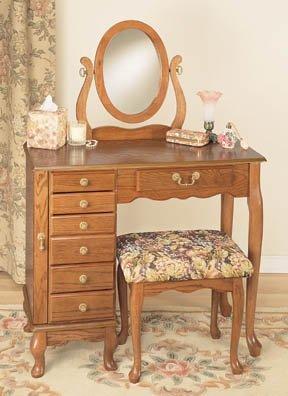 Powell Nostalgic Oak Armoire Vanity
