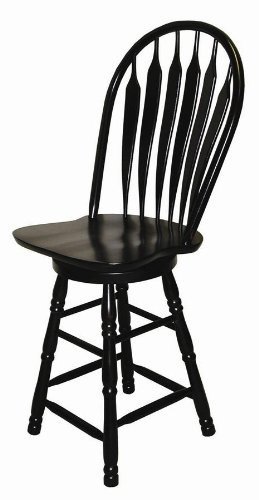 Arrowback Swivel Bar Stool