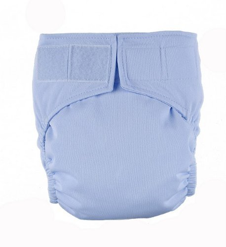 Light Blue Velcro Easy Clean One Size Pocket Cloth Diaper by Mommy's Touch - 1