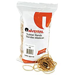 Universal Rubber Bands, Size 16, 2-1/2 x 1/16, 1900 Bands/1lb Pack