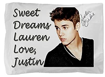 Justin Bieber Personalized Pillowcase Pillow Case for Teen Girl Christmas Gift Personalized