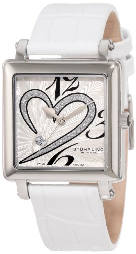 Stuhrling Original Donna 253XL.1115P2 Amour Aphrodite Courtly Passion Swiss Quartz Diamond Date White Orologio