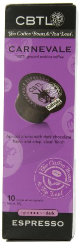 Cbtl Carnevale Espresso Capsules By The Coffee Bean & Tea Leaf, 10-Count Box