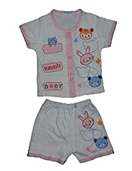 Wise Guys Summer Collection Cotton Unisex Top & Shorts for Baby Kids Clothing Set (06 to 09 Months) CLOTHSET18