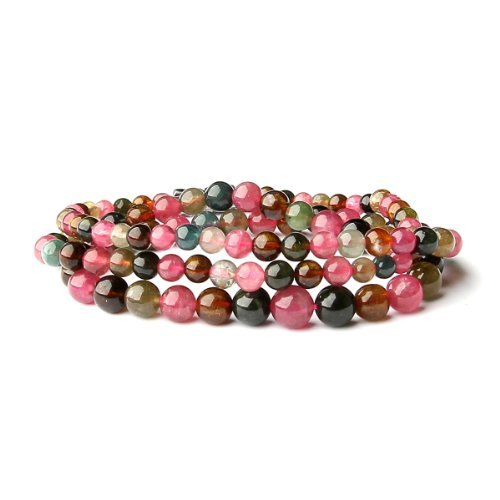 O-stone Natural 3A Tourmaline Love of Rainbow Necklace Famly Beads Collection Bracelet 4mm-7mm Bracelet Grounding Stone Protection Very Precious Gemstone