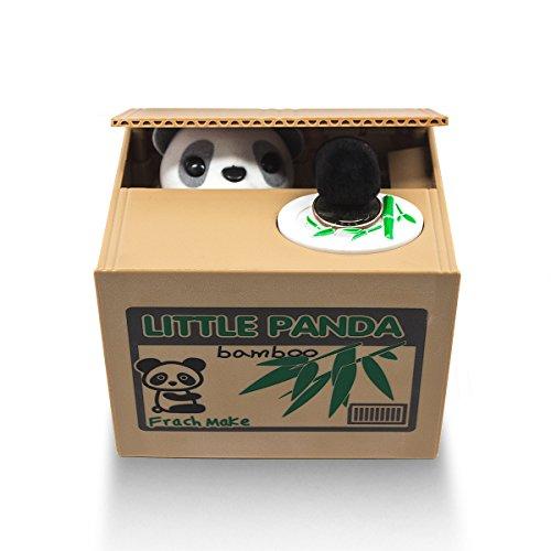 Matney® Stealing Coin Panda Box – Piggy Bank – Panda Bear – English Speaking – Great Gift for Any Child