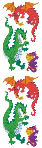 Jillson Roberts Prismatic Stickers, Dragons, 12-Sheet Count (S7318)