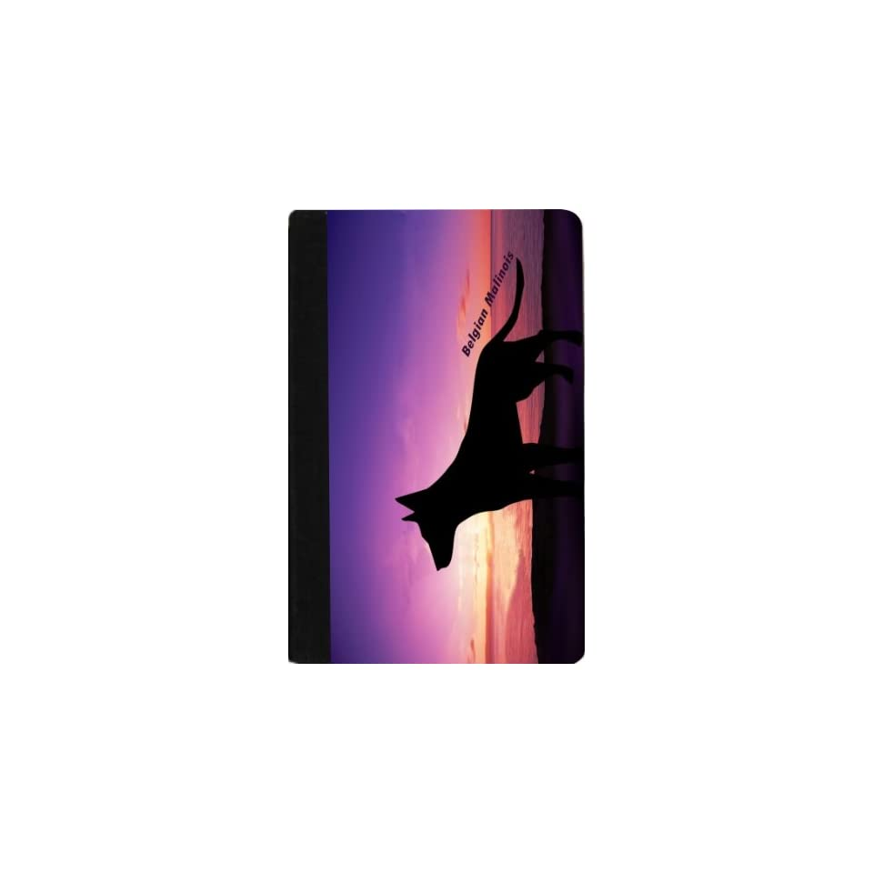Rikki Knight Belgian Malinois Dog At Sunset Design Kindle Fire Notebook Case Black Faux Leather (Not for Kindle Fire HD)