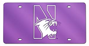 Buy NCAA Northwestern Wildcats License Plate Cover by Rico