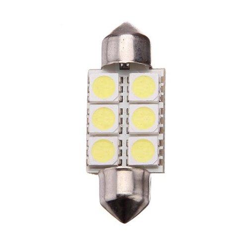 Comple 5 X 36Mm 6 Smd 5050 C5W Car Led Festoon Dome Light Bulbs White