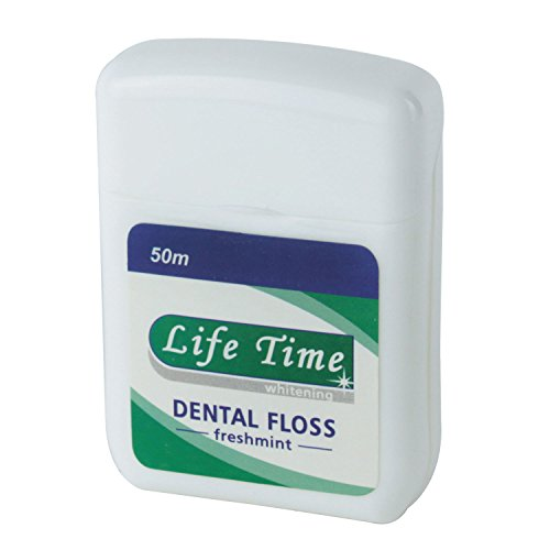 Kobwa(Tm) White Life Time Gentle Glide Pro Health Freshmint Deep Teeth Clean Dental Floss With Kobwa'S Keyring front-30030