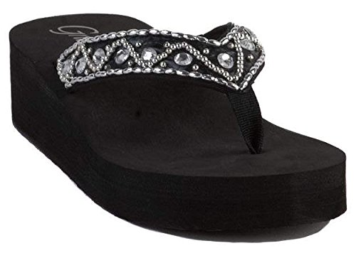 Grazie Women'S Lolly Flip Flop,Black,7 B Us front-804843