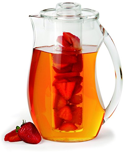 Chef's INSPIRATIONS Fruit Infusion Water Pitcher. 2.9 Quart (2.75 Liters). Best For Infused Lemon, Fruit, Herbs Or Tea Beverages. Shatterproof Acrylic. Includes Ice Core & Bonus Infuser Recipe eBook. (Infusion Water Jug With compare prices)