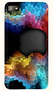 Noticeable multicolor printed protective REBEL mobile back cover for Blackberry Z10 D.No.N-L-11116-BBZ10