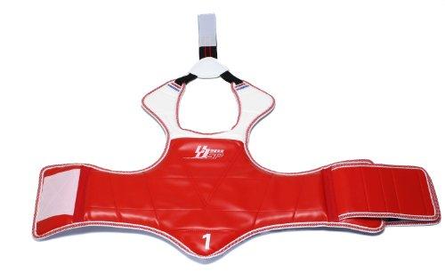 SportsStyle body protectors Taekwondo karate armor guard martial arts red blue reversible (4 sizes)