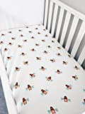 YourEcoFamily Muslin Fitted Crib Sheet - Certified Organic Cotton - Pre-Washed Softest Mattress Sheet For Your Baby, Toddler Boy or Girl - High Quality (Bumble Bee)