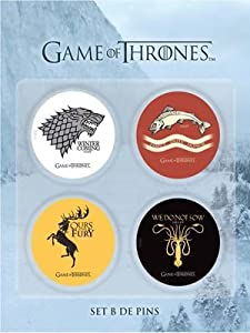 Game Of Thrones pack 4 badges Version 2
