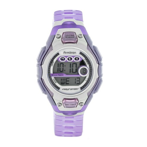 Armitron Women's 441001RFLV Sport Lavender Resin Digital Sport Watch