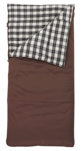Slumberjack Big Timber -20 Degree Sleeping Bag, 6-Feet 6-Inch, Brown