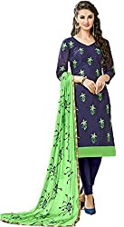 Riya Fashions Women's Cotton Unstitched Dress Material (R2002_Multicolor_Free Size)