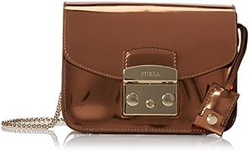 FURLA Metropolis Mini Mirror Cross Body Bag,Rame,One Size