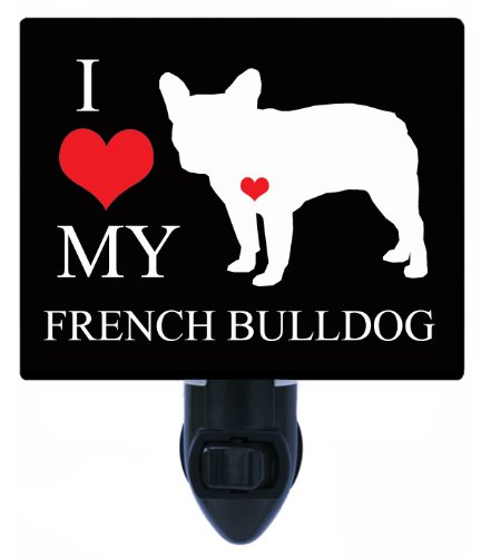 Night Light - I Heart My French Bulldog - Love - Dog (Bulldog Night Light compare prices)